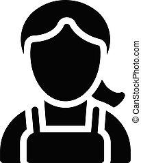 sister vector glyph flat icon