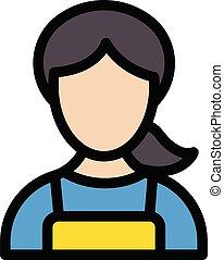 sister vector line colour icon
