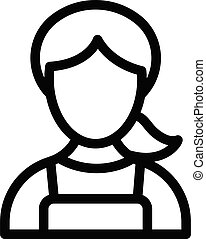 sister vector thin line icon