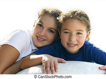 Sisters - 2 smiling girls