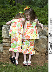 Sisters  - Twin sisters - one exploring