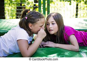 Sisters Telling Secret