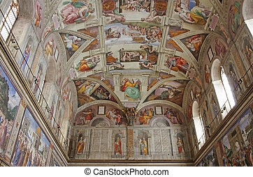 Sistine Chapel - ROME, ITALY - MARCH 08: Interior view of...