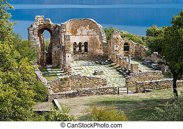 site arqueológico, em, grécia