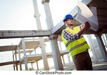 site, bâtiment, ingénieurs, fonctionnement