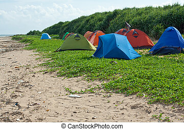 site,  camping