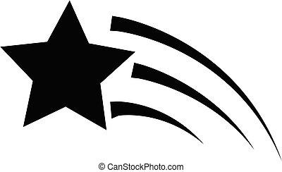 site, conception, icône, logo., plat, ton, tir, toile, signe, étoile, style., ui., logo, arrière-plan., blanc, symbole., app