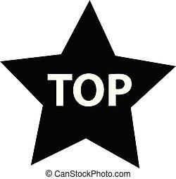 site, conception, icône, noir, sommet plat, ton, toile, forme, signe., étoile, style., ui., logo, arrière-plan., blanc, app