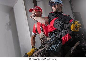site construction, équipage