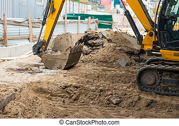 site construction, bulldozer