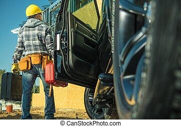 site construction, contrat