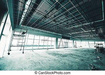 site construction, entrepôt