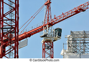 site construction, grues