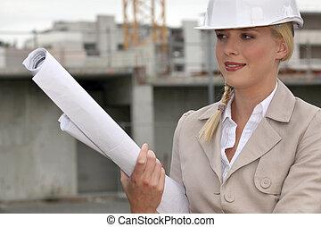 site construction, ingénieur