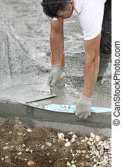 site construction, maçon