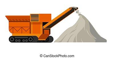 site construction, machine, tas, machinerie, industriel, matériels, ciment
