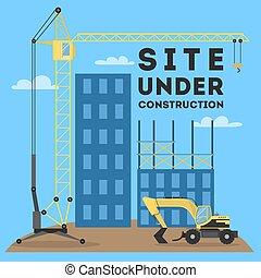 site, construction., sous
