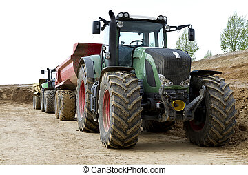 site construction, tracteur