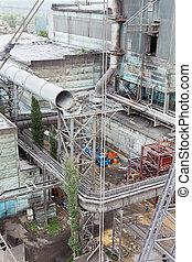 site construction, usine