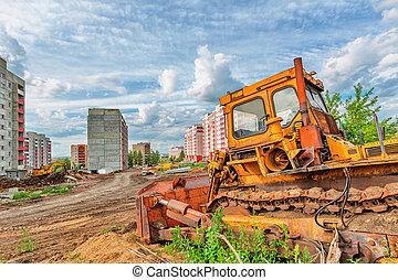 site, construction, vue