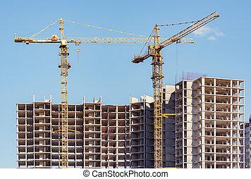 site., construction, vue
