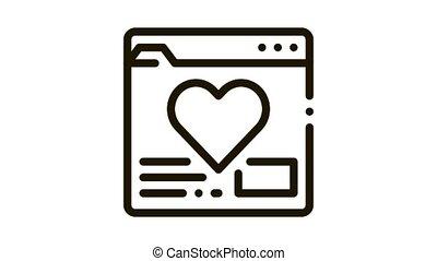 site, créature, icône, dater, animation