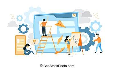 Site development illustration.