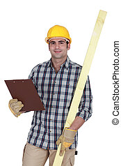 Site inspector with clip board