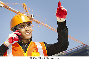 Site manager under construction
