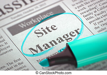 Site Manager Wanted. 3D.