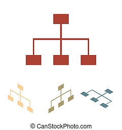 Site map icon for your projects set. Isometric effect