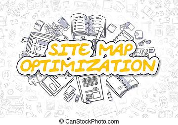 Site Map Optimization - Business Concept. - Site Map...