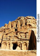 Site of Petra treasury in Jordan