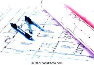 Site Plans - Drafting Related Items With Color Tinting