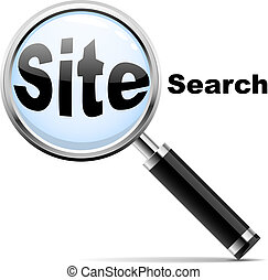 """""""site, recherche enchaînement, sur, site, verre, search"""", icon., te, magnifier"""