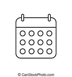 site, ui., vecteur, contour, conception, icône, ton, logo, illustration, toile, app, calendrier