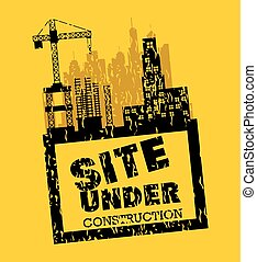 site under construction scene with cranes