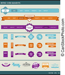 site web, éléments, navigation web