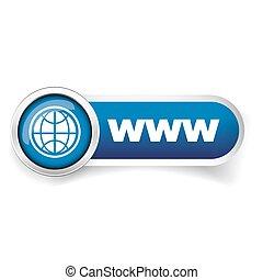 site web, ícone, vetorial