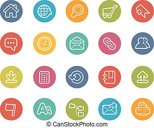 site web, ícones