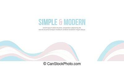 site web, abstratos, cobrança, onda, cabeçalho, desenho