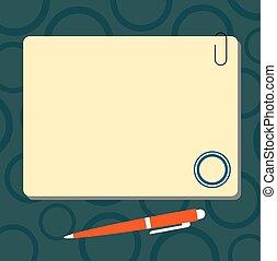 site web, aimant, stylo bille, concept, annonce, pushpin, ...