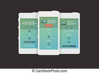 site web, apresentação, dispositivos, app