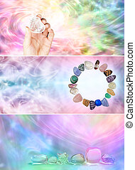 site web, arco íris, cristal, 3, cura, x