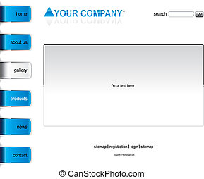 site web, blanc, disposition, gabarit