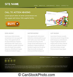 site web, bouton, moderne, gabarit, gentil