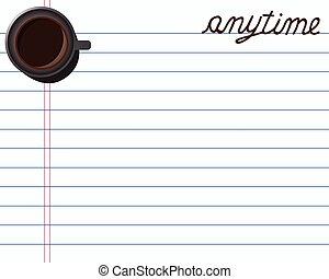 site web, café, carte, créatif, note, bannières, conception, papier, ton, salutations