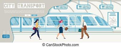 site web, cidade, companhia, serviço, vetorial, transporte