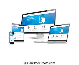 site web, codificação, desenvolvimento, com, res