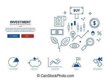 site web, concept, investissement